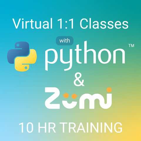 10hr Zumi + Python Programming Live 1:1 Training
