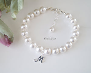 Initial Pearl Bracelet Wedding Gift for Bride - ClairesBridal - 3