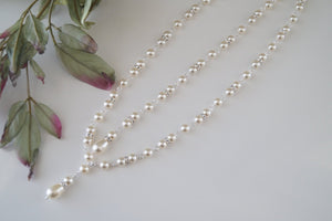 Pearl Backdrop Necklace Wedding Jewelry - Clairesbridal - 8