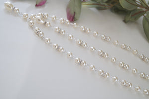 Pearl Backdrop Necklace Wedding Jewelry - Clairesbridal - 7