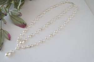 Pearl Backdrop Necklace Wedding Jewelry - Clairesbridal - 6