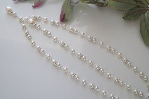 Pearl Backdrop Necklace Wedding Jewelry - Clairesbridal - 5
