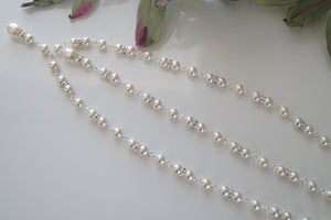 Pearl Backdrop Necklace Wedding Jewelry - Clairesbridal - 3