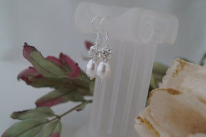 Bridal Pearl Drop Earrings Wedding Jewelry - Clairesbridal - 6