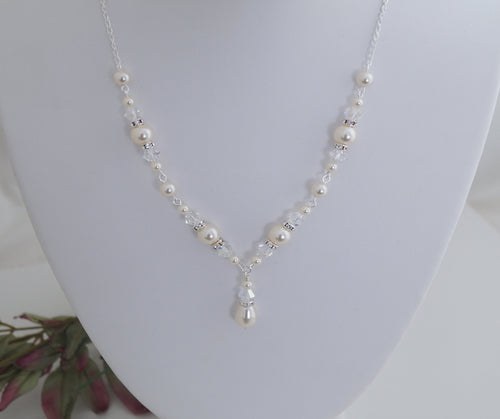 Ivory Pearl Necklace - Clairesbridal - 1