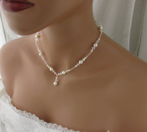 Bridal Jewelry Backdrop Necklace and Earrings - Clairesbridal - 5