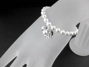 Flower girl charm bracelet wedding gift - Clairesbridal - 2