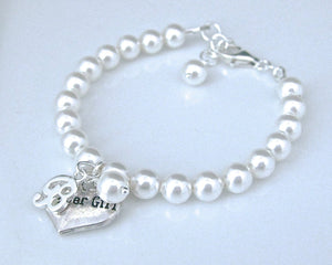 Flower girl charm bracelet wedding gift - Clairesbridal - 3