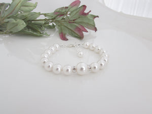 White Pearl Bracelet Bridal Jewelry - 2