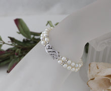 Load image into Gallery viewer, Pearl Cuff Bracelet Bridal Jewellery - Clairesbridal - 3