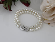 Load image into Gallery viewer, Pearl Cuff Bracelet Bridal Jewellery - Clairesbridal - 4