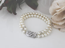 Load image into Gallery viewer, Pearl Cuff Bracelet Bridal Jewellery - Clairesbridal - 2