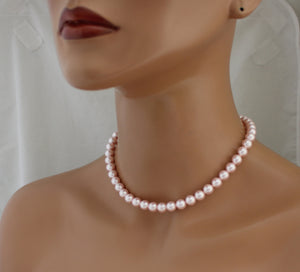 Pink Bridesmaid Necklace and Earring Set - Clairesbridal - 3