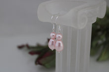 Load image into Gallery viewer, pink pearl drop earrings - clairesbridal - 1