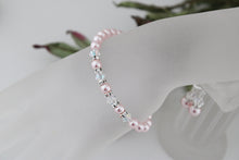 Load image into Gallery viewer, pink pearl bracelet and earrings