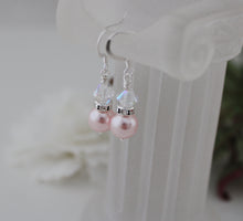 Load image into Gallery viewer, pink pearl earrings