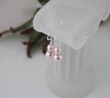 Load image into Gallery viewer, Pink Bridesmaid Jewelry Bracelet and Earrings - Clairesbridal - 2