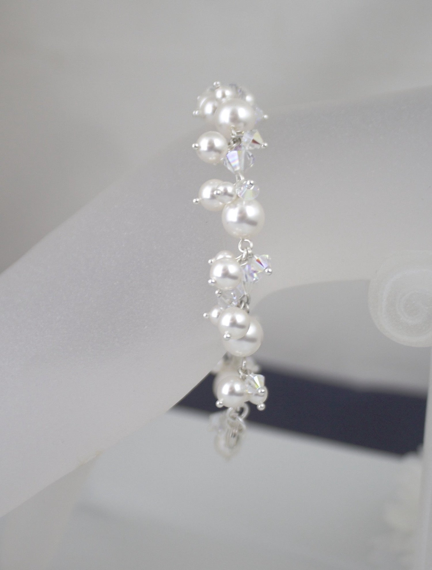 Wedding Jewelry Pearl Cluster Bracelet - Clairesbridal - 2