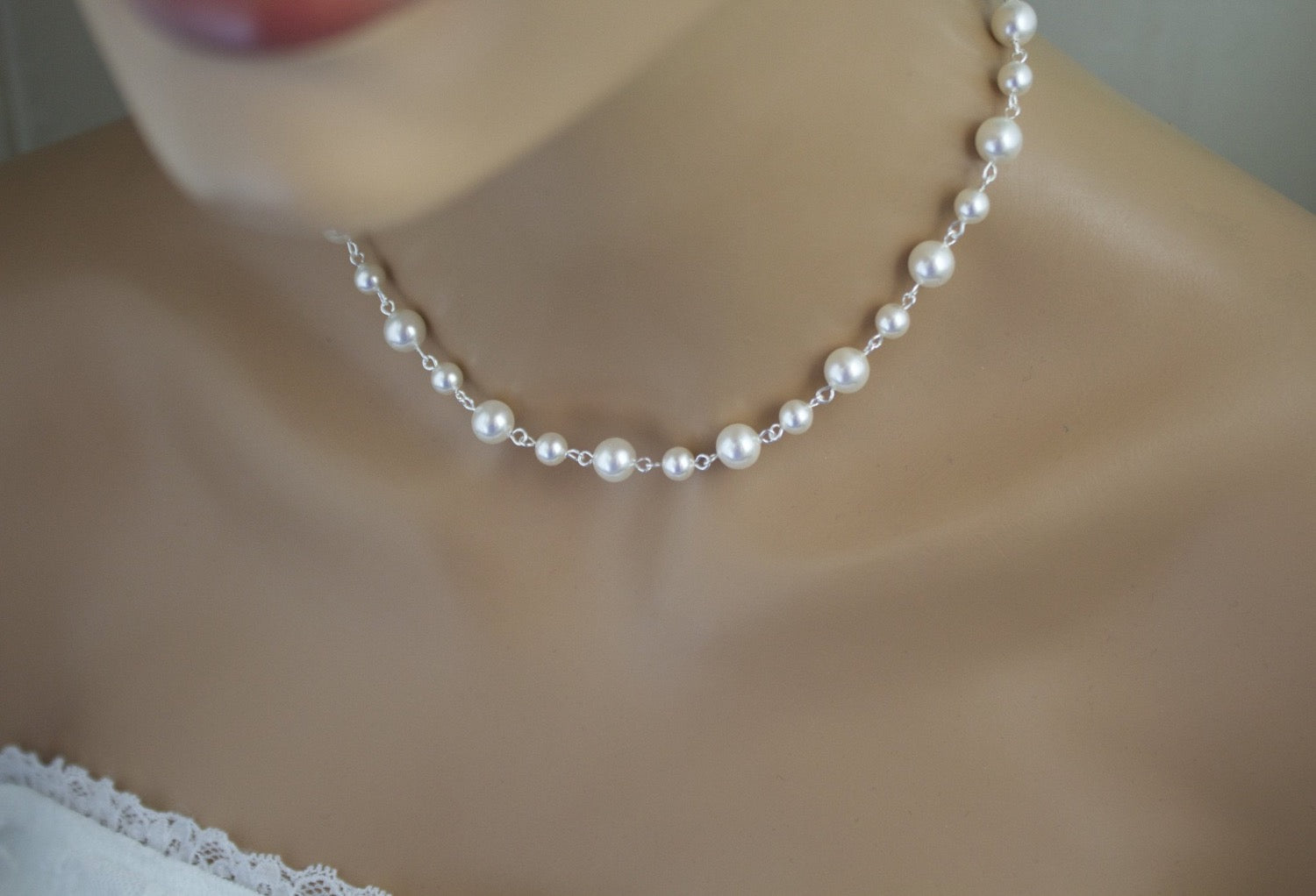 Wedding pearl necklace bridal jewelry Canada shop online - Clairesbridal - 2