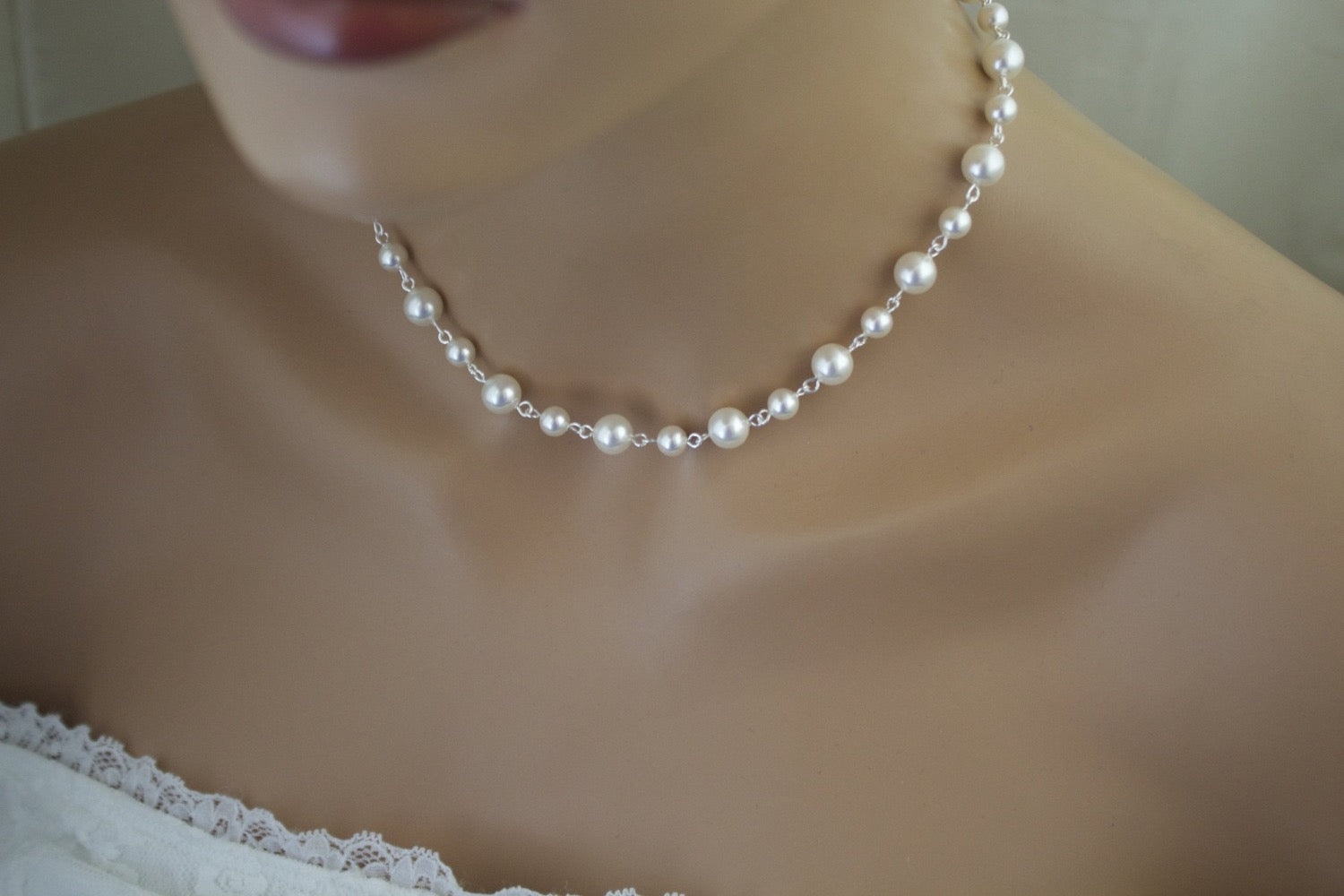 Wedding pearl necklace bridal jewelry Canada shop online - Clairesbridal - 4