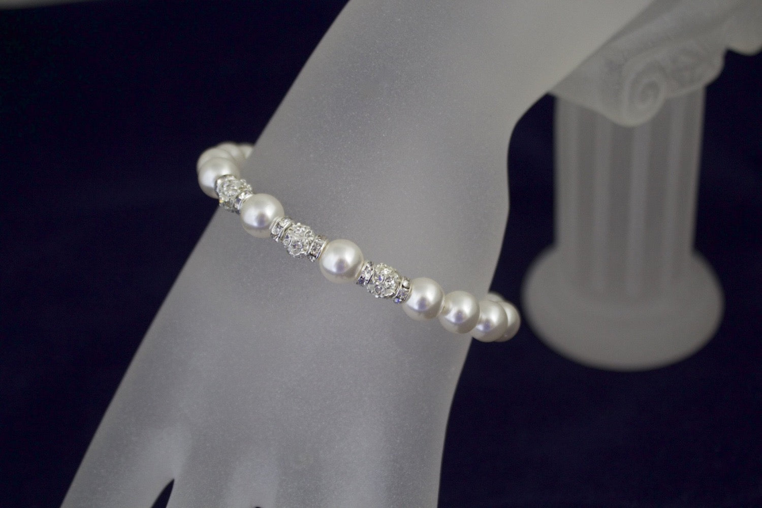 Bridal Jewelry Wedding Pearl Bracelet and Earring Set - Clairesbridal - 2