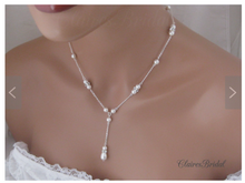 Load image into Gallery viewer, Pearl Wedding Jewelry Sets for Brides - Clairesbridal - 1