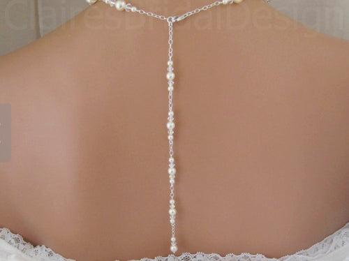 Backdrop Necklace and Earrings - Clairesbridal - 1