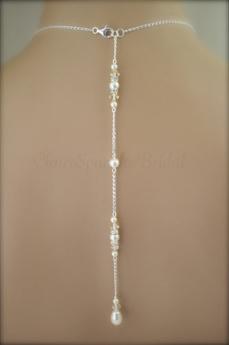 Bridal Backdrop Necklace Wedding Jewelry - Clairesbridal - 1