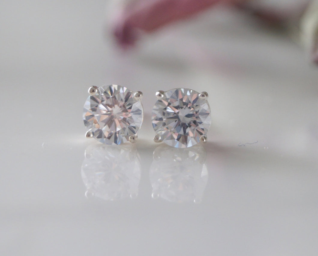 Crystal Stud Earrings - Clairesbridal - 1