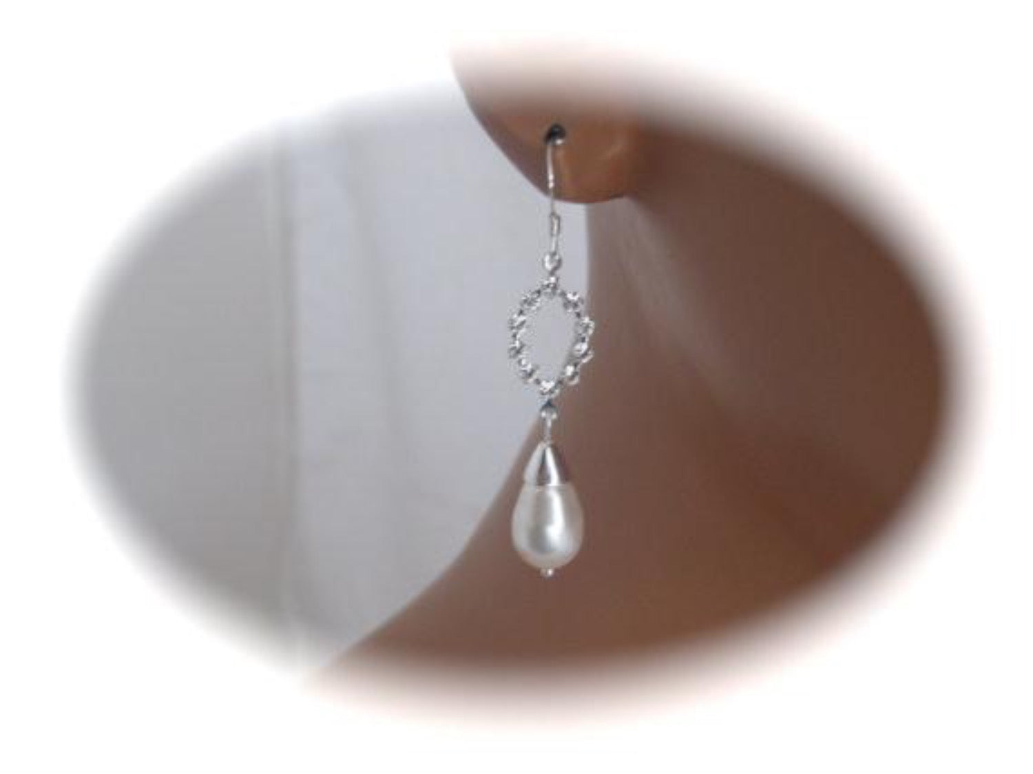 Pearl drop earrings bridal jewelry - Clairesbridal - 2