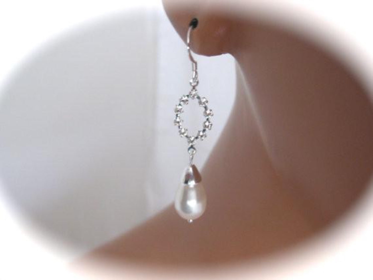 Pearl drop earrings bridal jewelry - Clairesbridal - 1