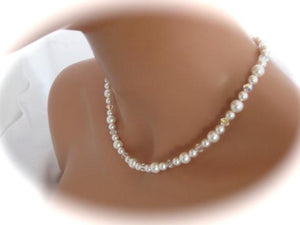 Swarovski Crystal Backdrop Necklace Bridal Jewelry - Clairesbridal - 2