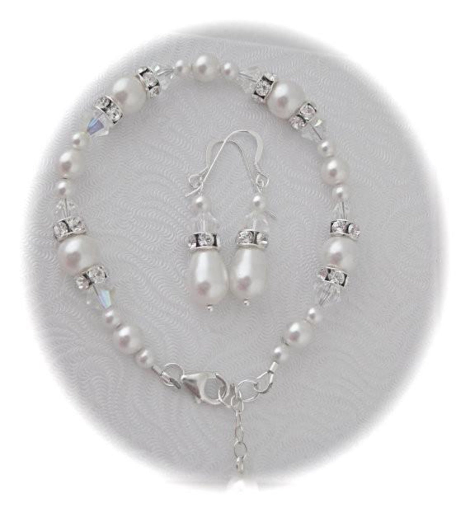 Pearl Necklace, Bracelet and Earring sets for brides - Clairesbridal - 3