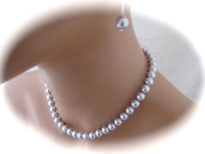 Lavender pearl necklace set for bridesmaids - Clairesbridal - 1