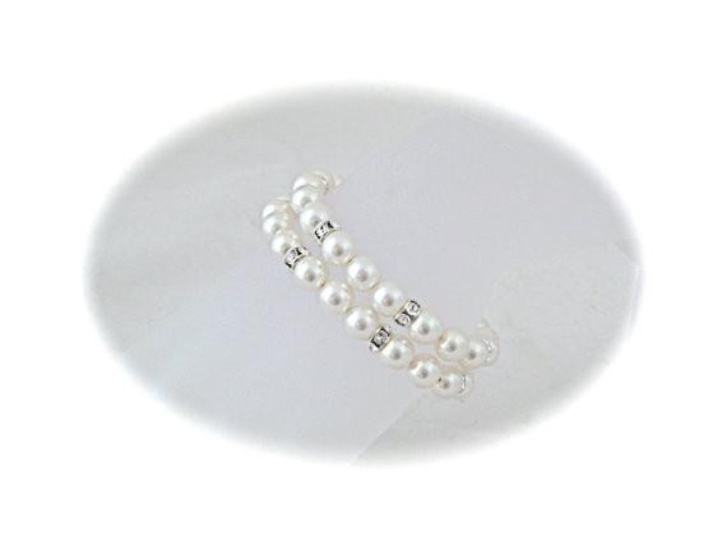 Double Strand Pearl Bracelet Bridal Jewelry - Clairesbridal