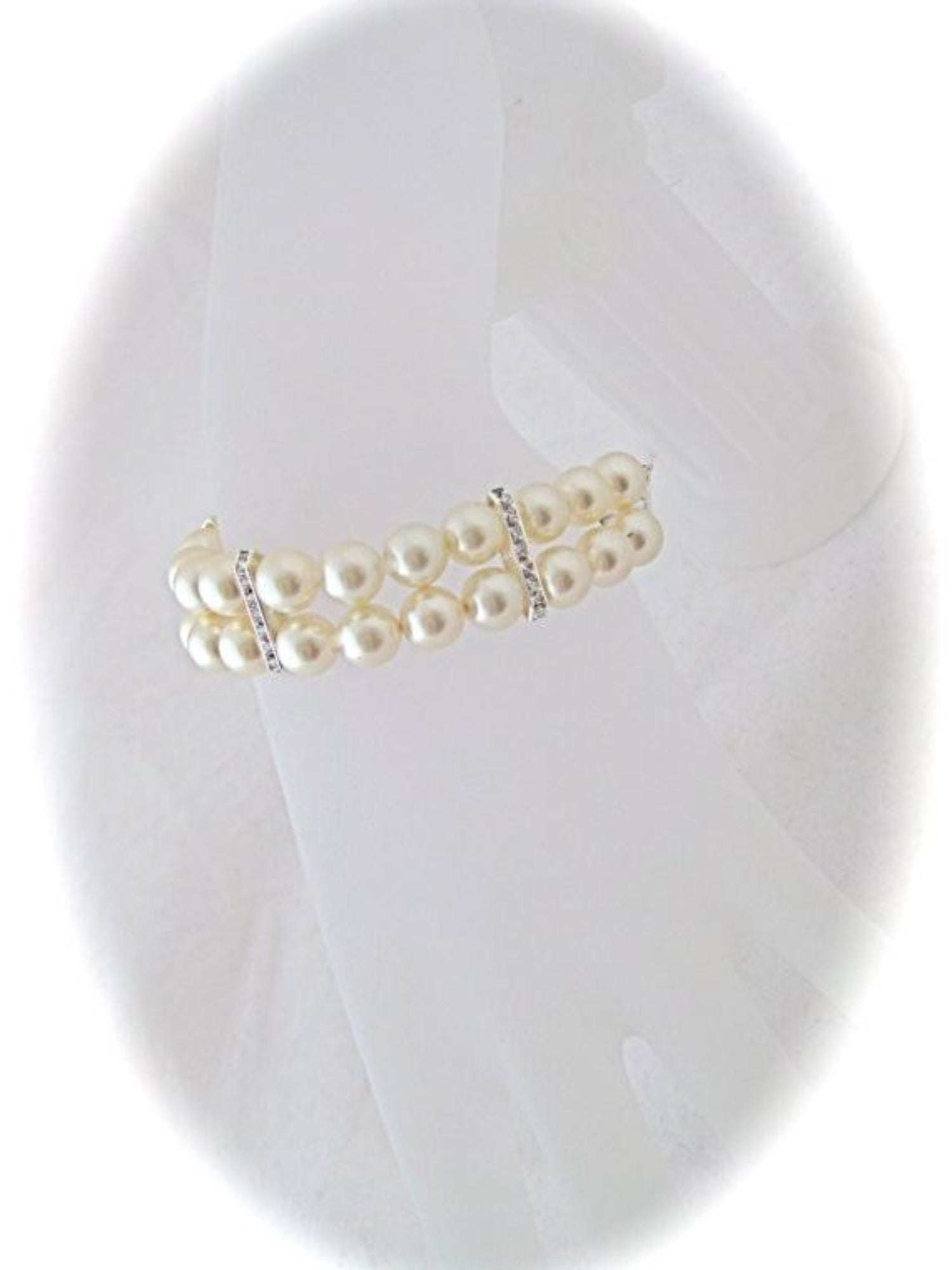 Cream Pearl Bracelet Wedding Jewelry for brides - Clairesbridal - 3