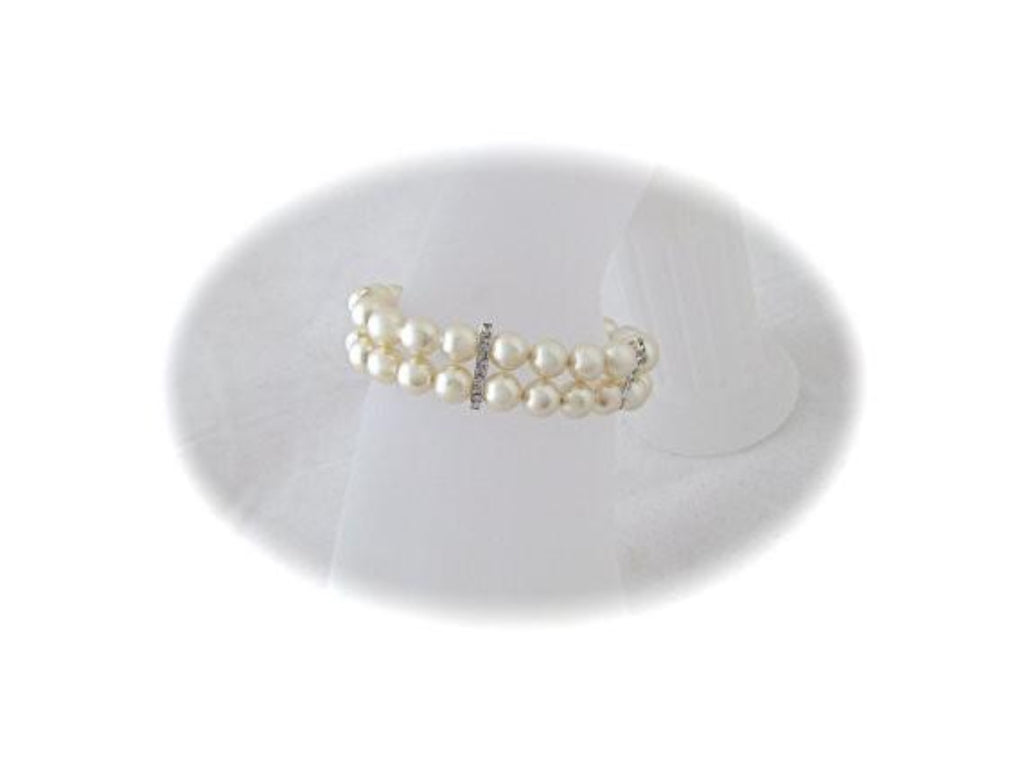 Cream Pearl Bracelet Wedding Jewelry for brides - Clairesbridal - 1