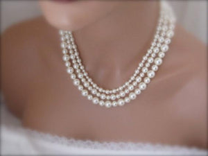 Mother Of The Bride Pearl Necklace Gift - Clairesbridal - 2