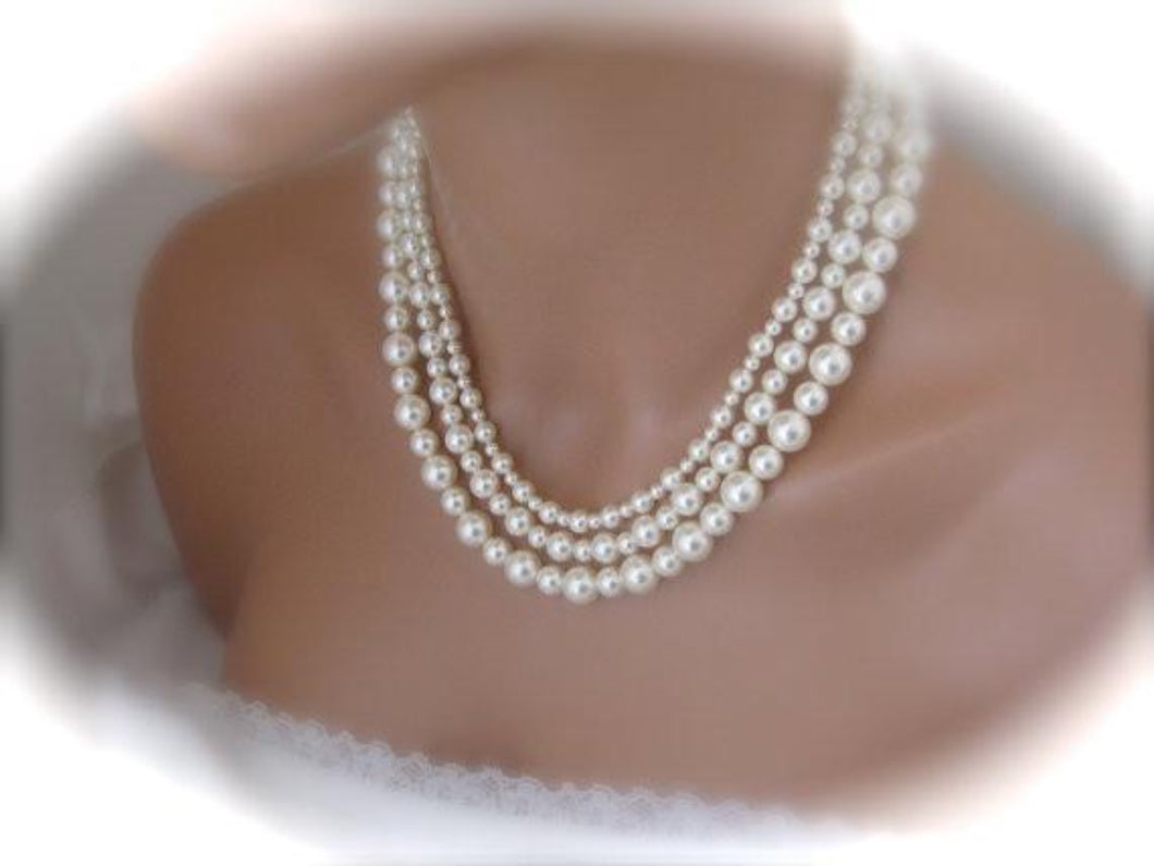Mother Of The Bride Pearl Necklace Gift - Clairesbridal - 1