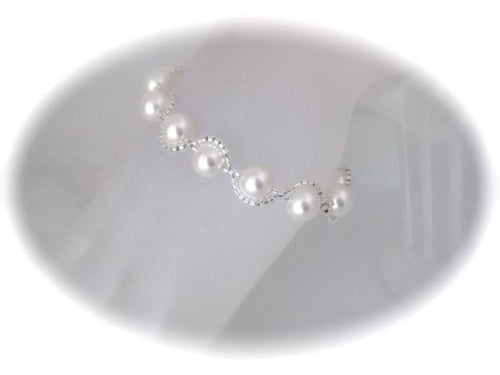 Pearl Bracelet Wedding Jewelry for Bride - Clairesbridal - 1