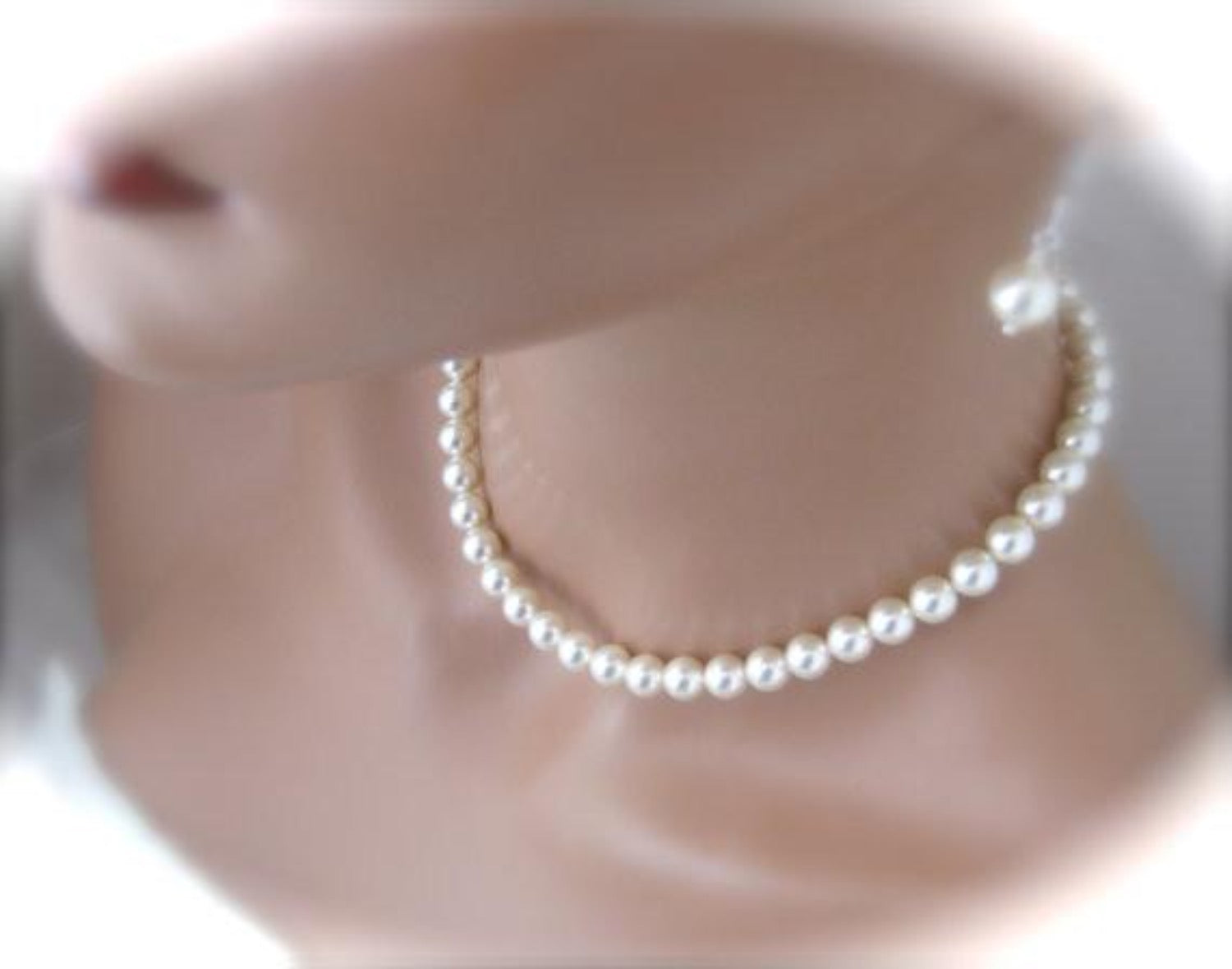 Pearl Bridal Necklace Set 8mm, Wedding Jewelry Set - Clairesbridal - 2