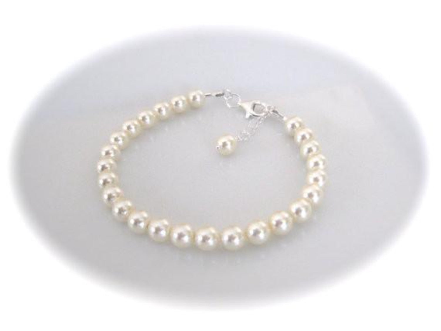 Pearl Bridal Necklace Set 8mm, Wedding Jewelry Set - Clairesbridal - 4