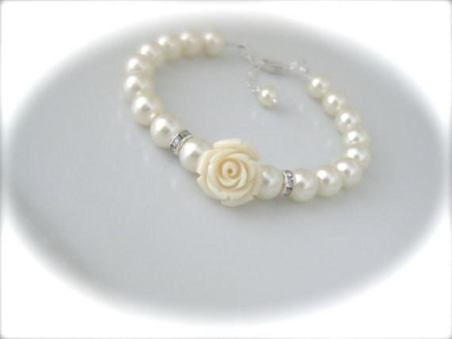 Ivory pearl bracelet bridal jewelry - Clairesbridal