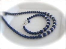 Load image into Gallery viewer, Navy Blue Bridesmaid Jewelry Set Wedding Necklace and Bracelet - Clairesbridal - 1