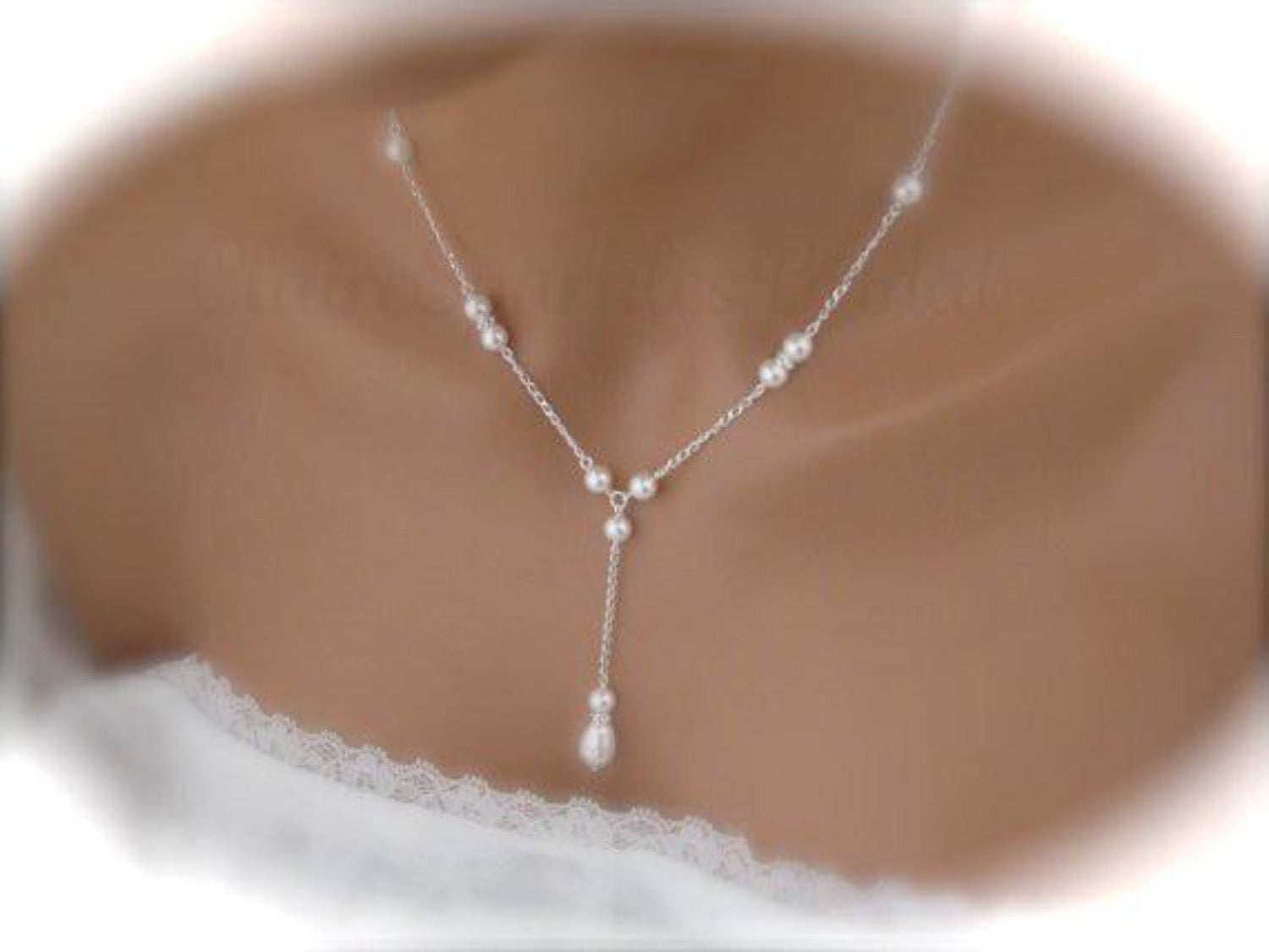 Pearl Wedding Jewelry Necklace and Earring Sets - Clairesbridal - 1