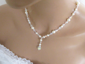 Bridal Necklace and Earring Set Wedding Jewelry Set - Clairesbridal - 4