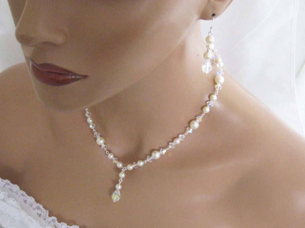 Bridal Necklace and Earring Set Wedding Jewelry Set - Clairesbridal - 1