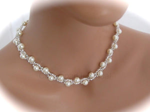 Wedding Jewelry | Bridal Necklace | Pearl Jewelry - Clairesbridal - 2