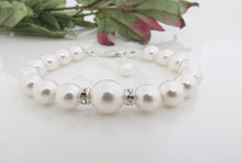 Load image into Gallery viewer, White Pearl Bracelet Bridal Jewelry