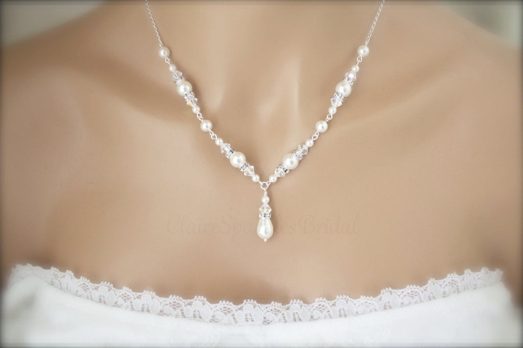 Wedding Pearl Necklace, Bracelet and Earring sets for brides ...